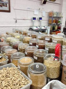 Dried beans and grains at Sahadis