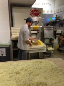 Making fresh pasta at Eataly