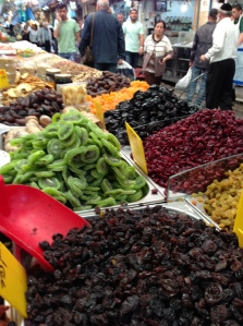 Dried fruit at Mahane Yehuda
